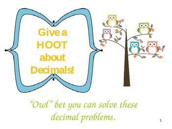 Decimals Review: Adding, Subtracting, Ordering Decimals