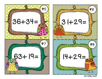 Give a Hoot for Two-Digit Addition (with regrouping) 2.NBT.5