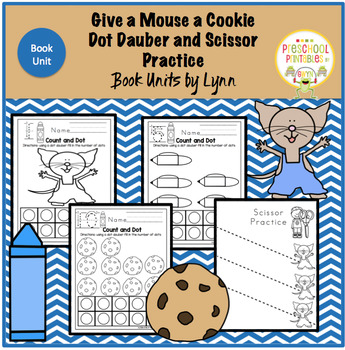 Give a Mouse a Cookie Dot Dauber and Scissor Practice