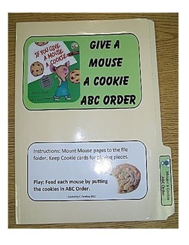Give a Mouse a Cookie ABC Order--file folder