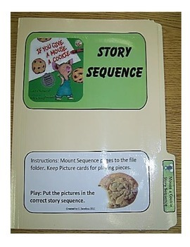 Give a Mouse a Cookie Story Sequence--file folder