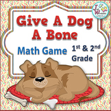 Subtraction Math Game for Centers dogs themed
