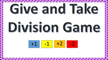 Give and Take Division File Folder Game