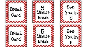 Give 'em a Break--Break Cards