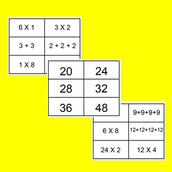 Give me 4 !!!! Fun ways to practice multiplication! No prep!