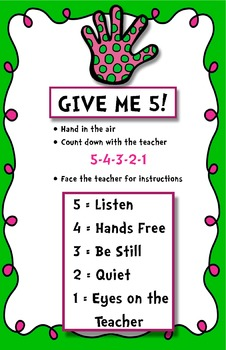 Give me 5!