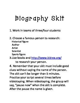 Give me 5 Biography Skit