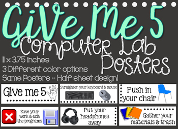 Give me 5 computer lab half sheet
