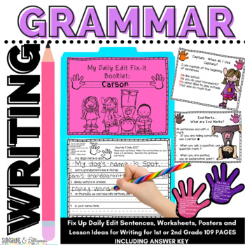 Writing Give me 5 for Writing Posters, Worksheets and Ideas for 1-2
