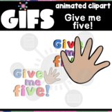 Give me five GIF | Animated Clipart