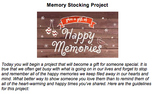 Give the Gift of Memories (Memory Stocking) Project