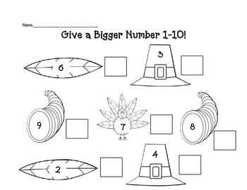 Give the greater number thanksgiving version