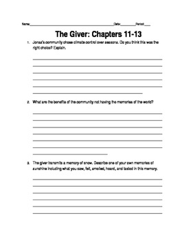 Giver Ch. 11-13