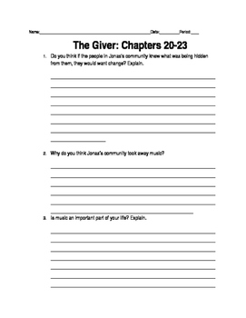 Giver Ch. 20-23