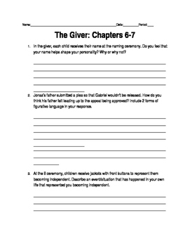 Giver Ch. 6-7