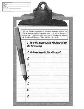 Giver Rules Homework