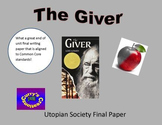 Giver -Utopian Society Paper