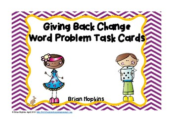 Giving Back Change Task Cards