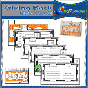 Giving Back Interactive Foldable Booklet