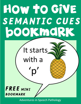 Semantic Cues for Word-Finding Difficulties