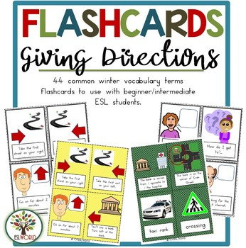 giving directions english flashcards by esl world store tpt. Black Bedroom Furniture Sets. Home Design Ideas
