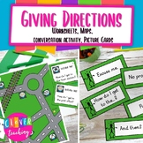 Giving Directions- Speaking activity, Worksheets, Conversa