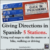 Giving Directions in Spanish Stations (Real Maps.) Walking