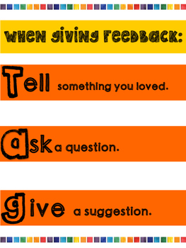 Giving  Feedback Anchor Chart