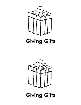 Giving Gifts emergent reader