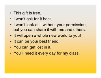 Giving Journals as a Gift to Your Students
