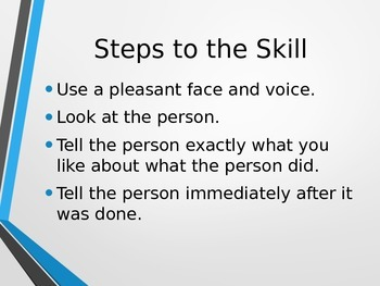 Social Skills - 'Giving Positive Feedback to Others' PowerPoint