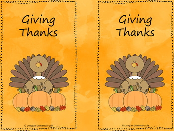 Giving Thanks - A Thanksgiving Activity
