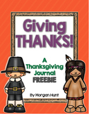 Giving Thanks! {A Thanksgiving Journal FREEBIE}