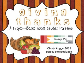 HOLIDAY: Giving Thanks: An Interactive Lapbook Portfolio