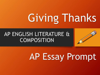 Giving Thanks AP Literature Essay Prompt
