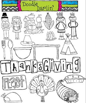 Giving Thanks COMBO Clipart Set