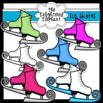 Ice Skates Clip Art Set