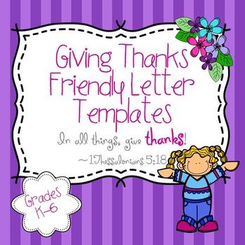 Friendly Letter Templates K-6