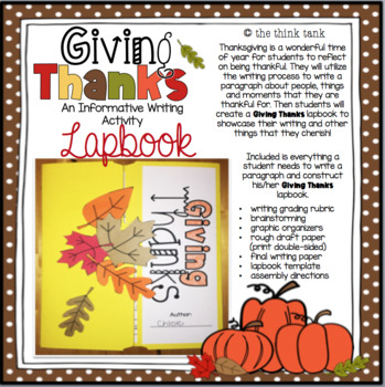 Giving Thanks: Informative Writing and Lapbook Activity