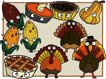 Thanksgiving Feast (Digital Clip Art)
