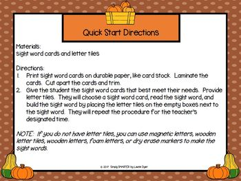 Giving Thanks To Sight Words:  LOW PREP Thanksgiving Themed Sight Word Activity