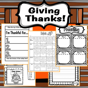Giving Thanks Writing Craftivity!