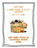 Giving Thanks a Guided Reading Comprehension about the First Thanksgiving