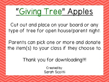 Giving Tree Apples