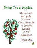 Giving Tree Apples (Classroom Wish List)