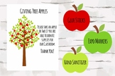 Giving Tree Apples with poster, Perfect for Open House and