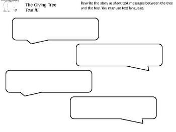 The Giving Tree Choice Board Assessment and Activities