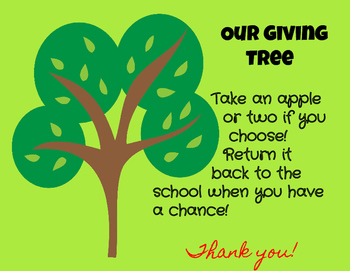 Giving Tree Class Donation Poster and Printables