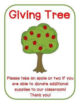 Giving Tree Wish List Apples