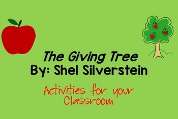 Giving Tree and Thanksgiving Activities Bundle